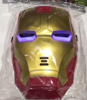 Iron Man Light Up Mask (NEW IRON MAN LED Light Up KIDS Mask MARVEL SUPERHERO INIFINITY WAR UK)