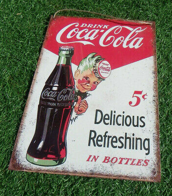 Vintage Look Coca Cola 50's Diner Style Metal/Tin Wall Sign