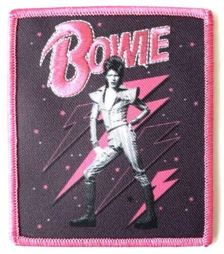 David Bowie Pink Lightning Bolts Patch Memorabilia Logo Emblem