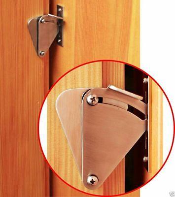 Stainless Steel Lock for Sliding Barn Door Wood Door Latch Gate Door EASY DIY ()