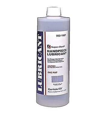 Dental Super-dent Handpiece Lubricant Lubricating Oil 1 Pint 16 Oz 473 Ml