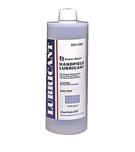 Dental Super-Dent Handpiece Lubricant Lubricating Oil, 1 Pint (16 oz) (473 mL)