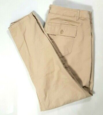 NWT KHAKIS BY GAP Womens Beige SKINNY MINI Chino Pants Size 12 ANKLE