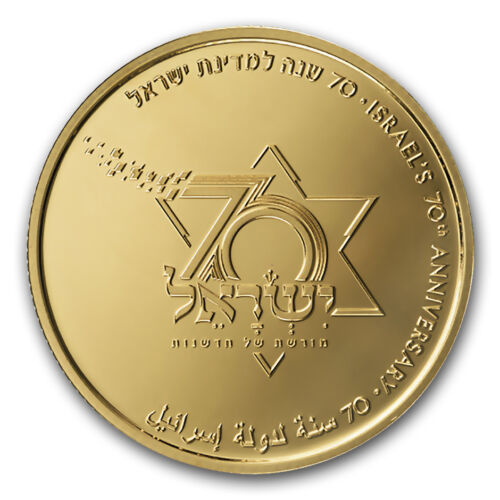 2018 Israel Gold 10 Nis S 70th Anniversary Proof Sku 168574