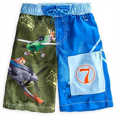 NWT Boys 4T 4 Disney Planes Swim Trunk Swim Suit