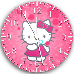 Pink Hello Kitty wall Clock 10 will be nice Gift and Room wall Decor X20