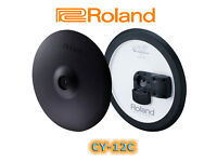 """Roland CY-12C V-Drums electronic Cymbal 12"""" 2 Zone Crash trigger cy12 with choke"""