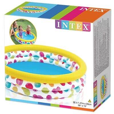 Intex Childrens Kids Large Paddling Swimming Pool 147cm x 33cm Garden Play Pool