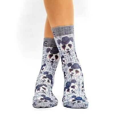 Spezial Damen Socken WIGGLESTEPS Funktionssocken (One Size 36/40) Smoking Panda (Smoking Socks)