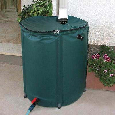 Rain Barrel 50 Gallon Collapsible Water Runoff Collection Unit Garden Spigot