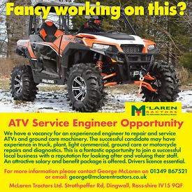 ATV Service Engineer based in Dingwall