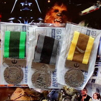 STAR WARS Epic Battles Medals orig. Toys'r'Us Endor Yavin Tatooine NEU&OVP