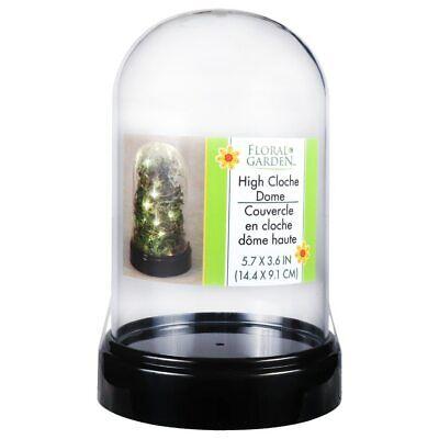 Floral Garden High Cloche Dome Acrylic Display Case Home Decor Funko Pop