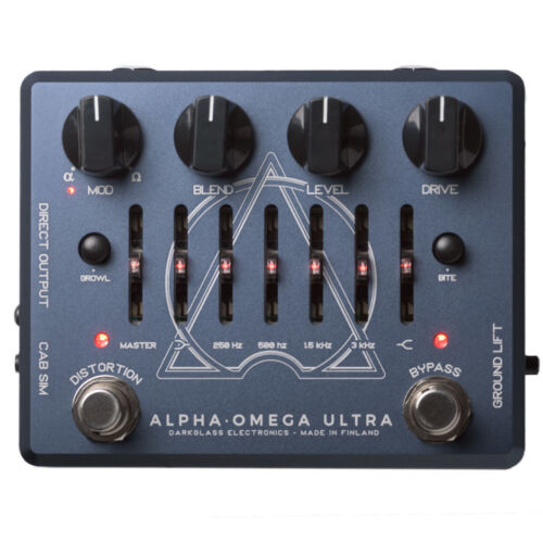 New Darkglass Alpha Omega Ultra Dual Bass Preamp/OD Pedal W/AUX
