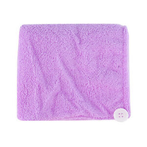 Microfibre After Shower Hair Drying Wrap Towel Quick Dry Hair Hat Cap Turban NC
