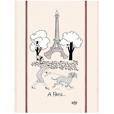Torchons & Bouchons French Dog DUBOUT Kitchen Towel EIFFEL TOWER PARIS $19.95