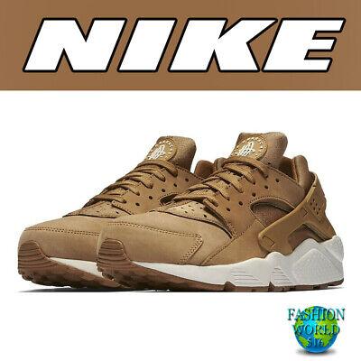 best website cb591 cc7aa Nike Men s Size 10 Air Huarache Running Shoes 318429-202 Flax Sail-Med Brown