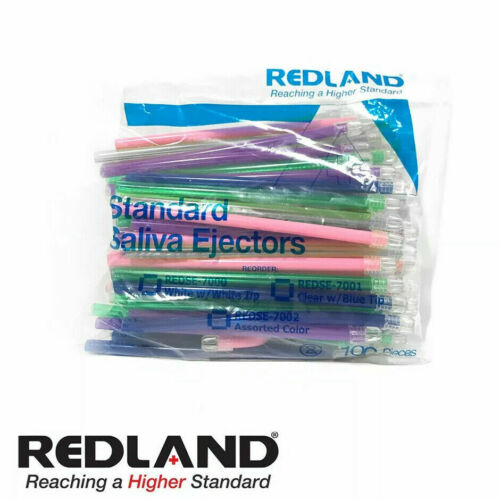 REDLAND Standard Saliva Ejectors Assorted Color 1000 Pieces