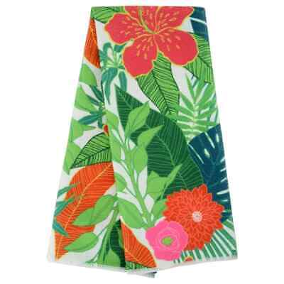 Kitchen Collection Print - Set of 2 Home Collection Beach Bash Floral-Print Kitchen Towels 15x25 in. w