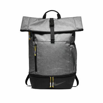 Nike Modern Sports Backpack Grey Gold Ruck Sack Gym
