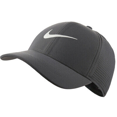 Nike AeroBill Legacy 91 Gray Perforated Cap Hat Size XS-S