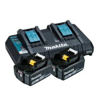 Makita Battery Charger with 2x 5Ah Batteries