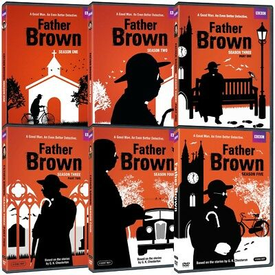 New  Father Brown  Complete Tv Series 1 5 Seasons 4 5 Five 5Th Fifth Bbc Dvd Set