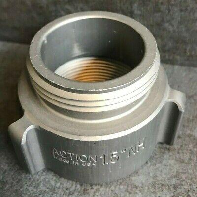 Aluminum Fire Hose Adapter 1.5 M.nstnh X 1.5 F.npt Rocker Lug
