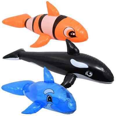 Splash-N-Swim Inflatable Pool Animals Killer Whale Blue Whale Clown Fish w