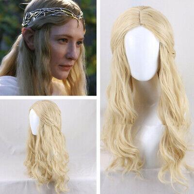 The Hobbit Galadriel Perücke Wig Cosplay Kostüme Costume Lang Long blonde - Galadriel Cosplay Kostüm