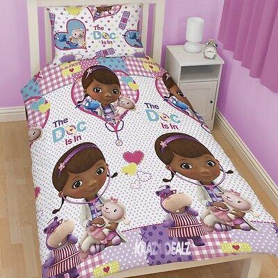 s Patch Single Rotary Duvet Cover Bed Set Dottie Stuffy (Doc Mcstuffins Bettwäsche)