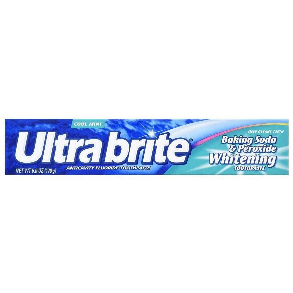 Ultrabrite Baking Soda & Peroxide Whitening Toothpaste 6.0 oz One Single Tube