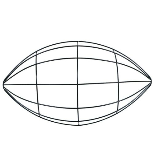 """2pk Floral Garden Football-Shaped Wire Wreath Form, 3.6"""" x 7"""" x 12"""""""