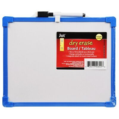 Dry Erase Colorful Board With Marker Light Duty Blue Board 8.5 X 11 New
