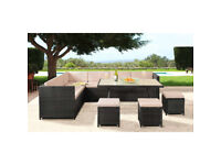 New Mahe 9 Seater Rattan Set ,Retails @ £1000. For sale @ £500