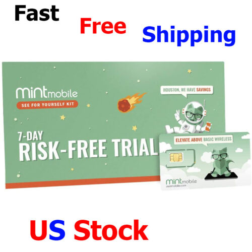 Mint Mobile Starter Kit Verify Compatibility with Our Talk Text & Data Plans SIM