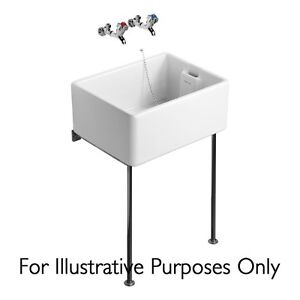 Belfast Sink Stand , Polished Stainless  Steel Legs 650mm Alloy Bearer 355mm