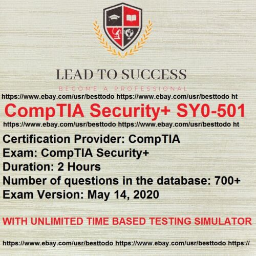 CompTIA Security+ SY0-501 Real Exam Q&A And Simulator FAST SHIPPING