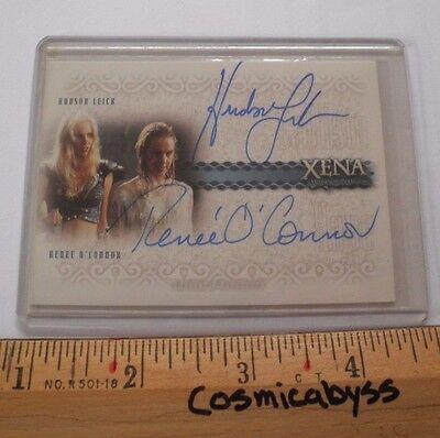 Xena Warrior Princess Autograph card DA2 Hudson Leick Renee O'Connor insert NICE