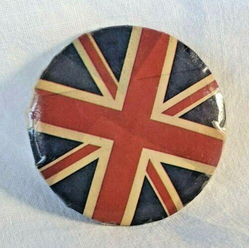 Vintage United Kingdom Union Jack Round Pin