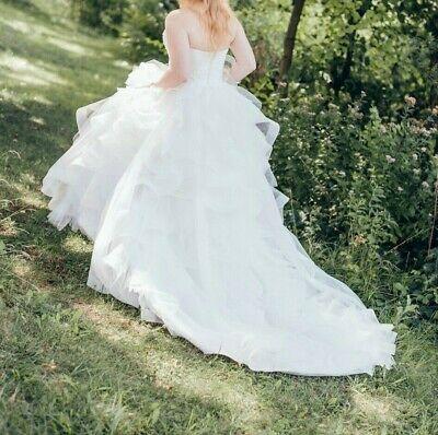 Elegantes Brautkleid Hochzeitskleid Schleppe 2in1 kurz & lang Gr. 38 Pronovias