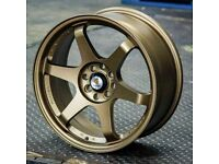 "Mini Vauxhall Fiat Honda x4 17"" Stuttgart St16-N Alloy Wheels Bronze 4x100"