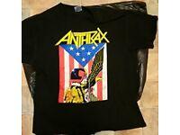 Anthrax Judge Dredd Woven Sew On Patch 8cm x 10cm