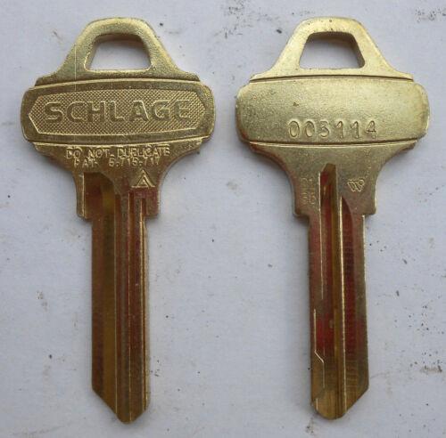 (1)  SCHLAGE  EVEREST  D135  Key Blank  # 003114