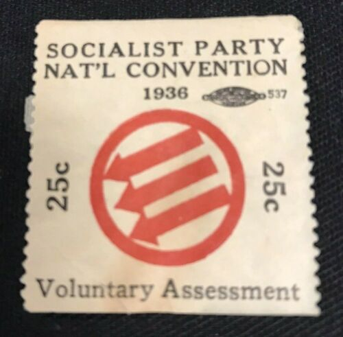 1936 Socialist Party National Convention Political Stamp JH842