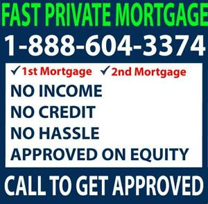 DIRECT PRIVATE LENDER --PRIVATE MORTGAGE - SECOND MORTGAGE -- GOOD OR BAD CREDIT? APPROVED! CALL NOW 1-888-604-3374