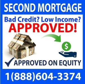 2nd Mortgage / Second Mortgage / Home Equity Loans - Features: Fast Approval, Fast Closing, No Credit/Income Required