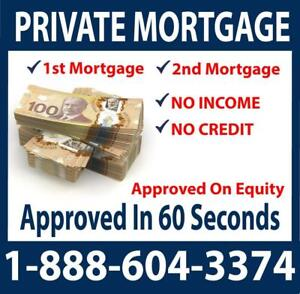 Fast Private Mortgage Approval -- Lowest Rates From Private Lenders Anywhere In Ontario - 1st Mortgages & 2nd Mortgages