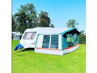 🚨 FIXED BED CARAVAN 🚨 EXCELLENT 4 berth with FULL Awning ⛺️ 2021/ 2022 Service Included!