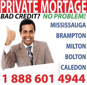 PRIVATE MORTGAGE -- PRIVATE LENDER -- Private Lender Mississauga - Private Lender Brampton Milton Bolton Caledon